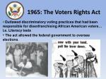 1965 the voters rights act