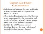german and soviet collaboration