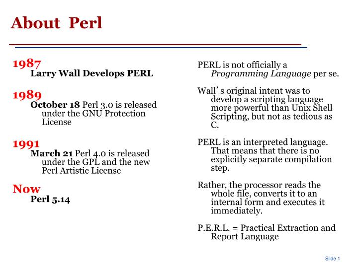 About perl