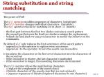 string substitution and string matching