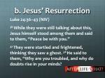 b jesus resurrection