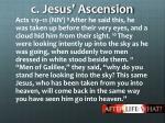 c jesus ascension
