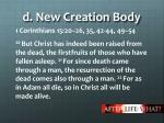 d new creation body