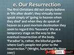 e our resurrection