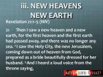 iii new heavens new earth