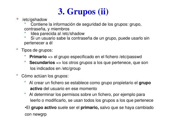 3. Grupos (