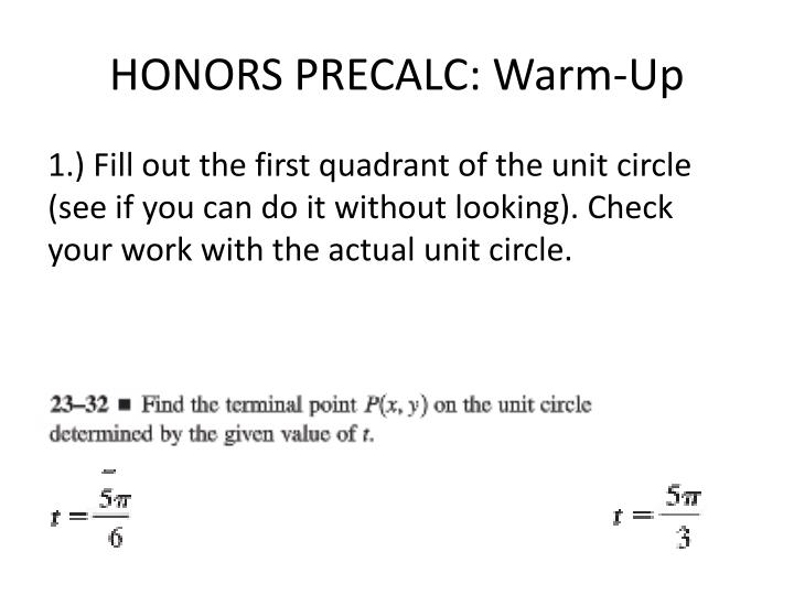 honors precalc warm up n.