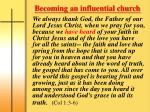 becoming an influential church1