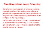 two dimensional image processing