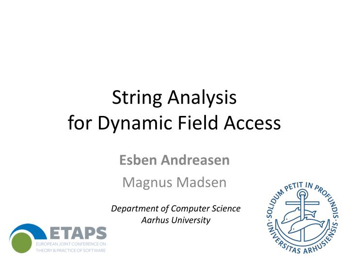 string analysis for dynamic field access n.