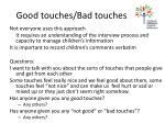 good touches bad touches