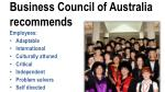 business council of australia recommends