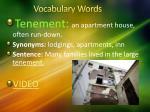 vocabulary words1