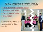 social issues in recent history
