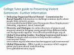 college tutor guide to preventing violent extremism further information2