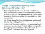 college tutor guide to preventing violent extremism what can i do2