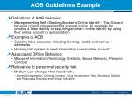 aob guidelines example