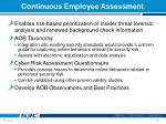 continuous employee assessment