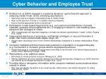 cyber behavior and employee trust