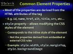 common element properties