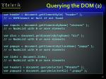 querying the dom 2