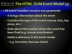 the html dom event model 3