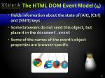 the html dom event model 4