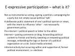 e expressive participation what is it