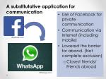 a substitutative application for communication