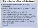 the reflection of the self disclosure