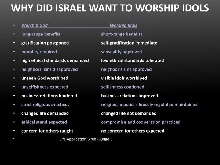 WHY DID ISRAEL WANT TO WORSHIP IDOLS