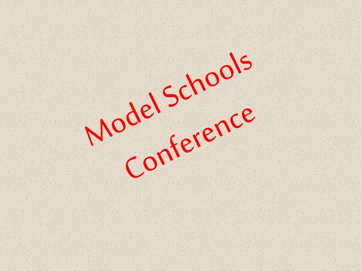 model schools conference n.