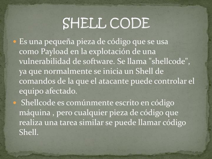 SHELL CODE