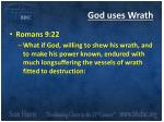 god uses wrath
