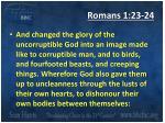 romans 1 23 24