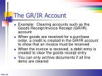 the gr ir account