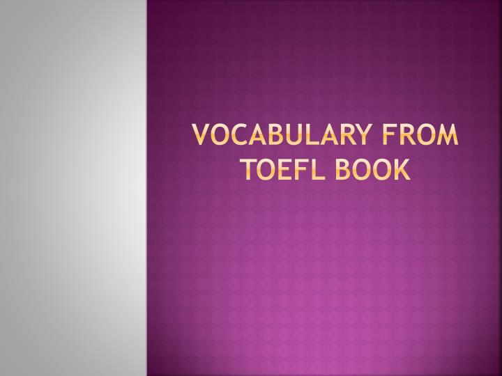 vocabulary from toefl book n.