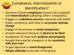 compliance internalisation or identification