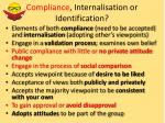 compliance internalisation or identification1