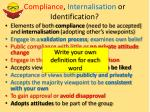compliance internalisation or identification2