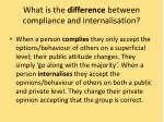 what is the difference between compliance and internalisation1