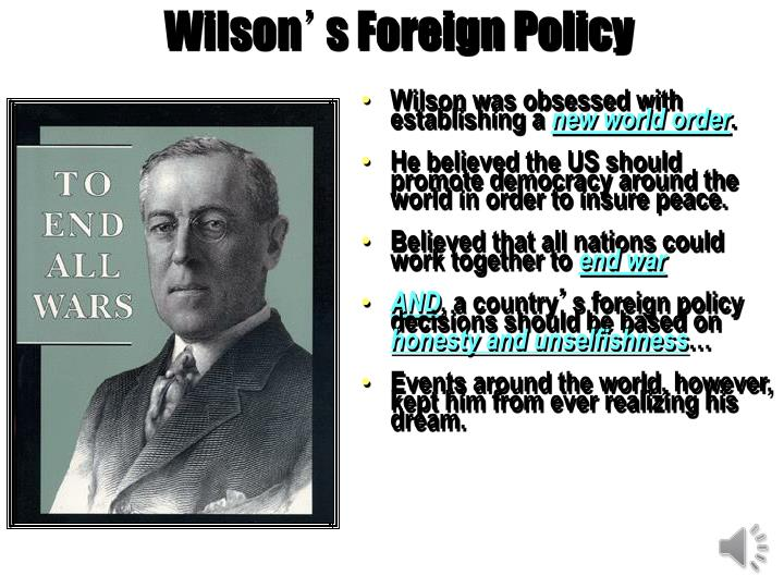 wilson s foreign policy n.
