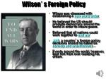 wilson s foreign policy