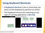 using keyboard shortcuts