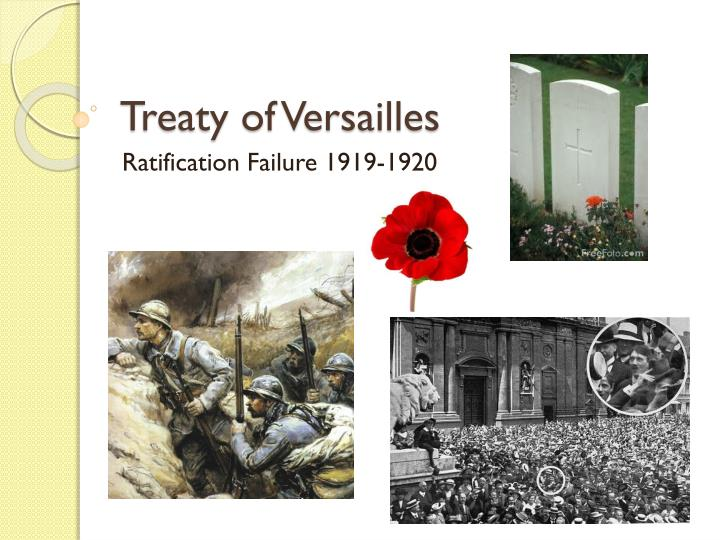 treaty of versailles n.