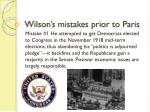 wilson s mistakes prior to paris