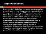 kingdom worldview