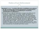 duties of law enforcement1
