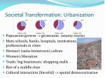societal transformation urbanization