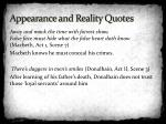 appearance and reality quotes1